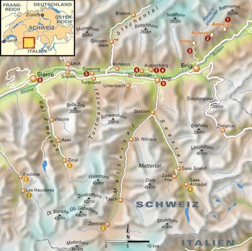 15 Toptouren im Wallis