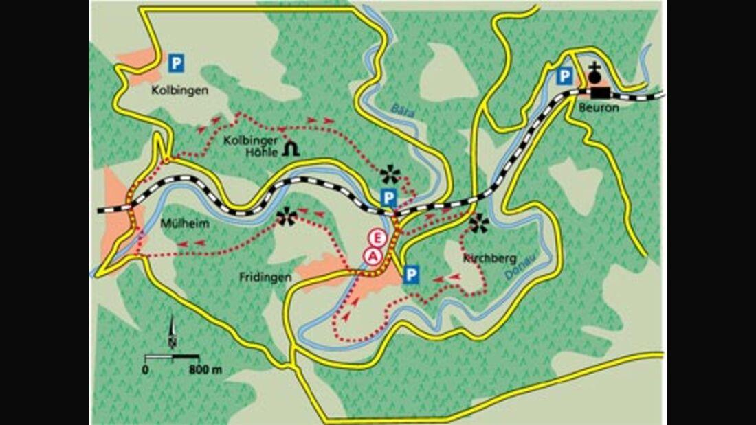 Alb Tour 1 Karte