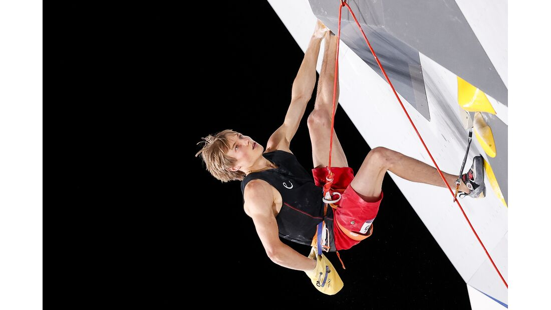 Alexander Megos klettert in Tokio, olympische Spiele 2021