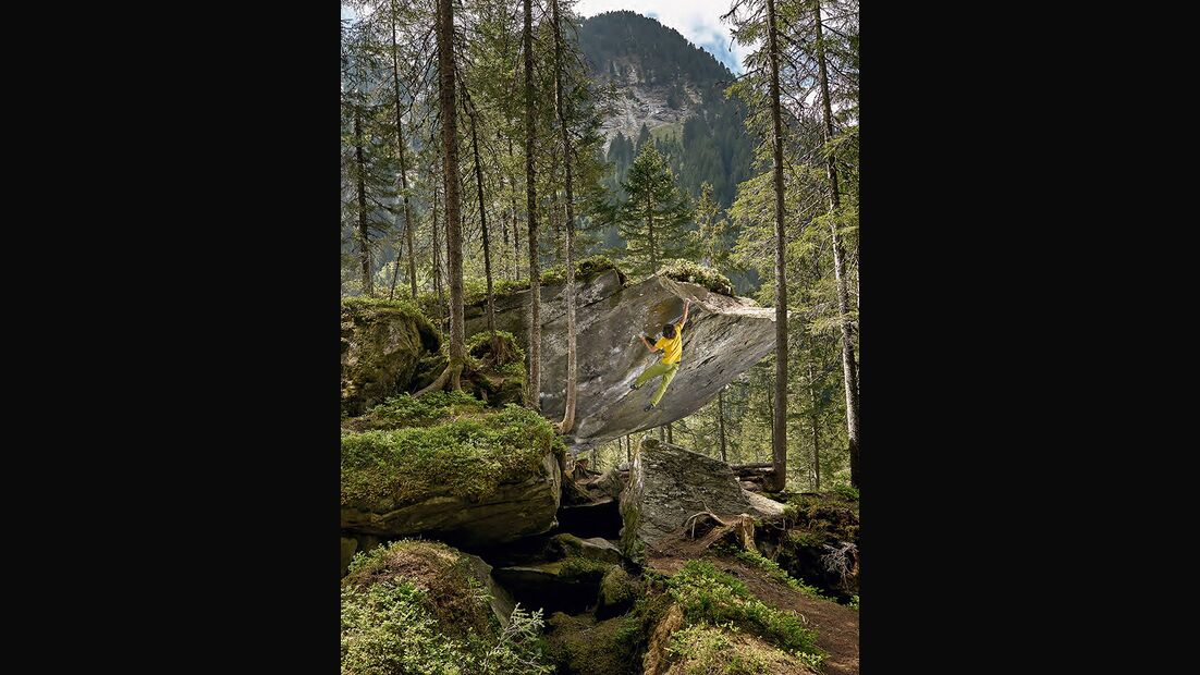 Alexander Rieser in El Gauhara (Fb 8A), Breitlahner Wald, Zillertal, Österreich