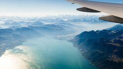 Alpen vom Flugzeug aus gesehen