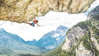 Amelie Kühne klettert in Südtirol