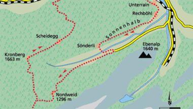 Appenzell Tour 1 Karte
