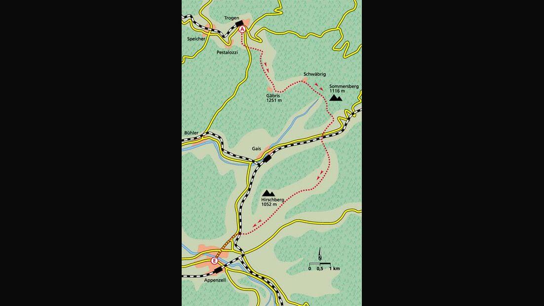 Appenzell Tour 2 Karte