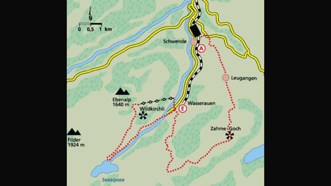 Appenzell Tour 4 Karte