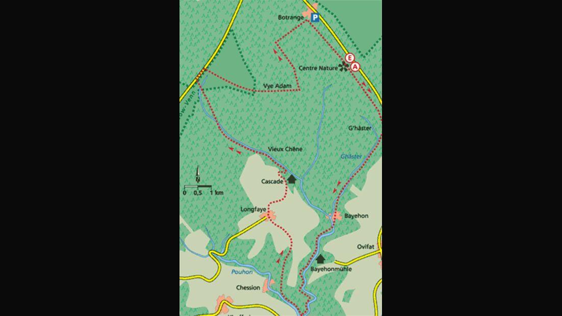 Ardennen Tour 4 Karte