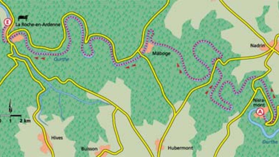 Ardennen Tour 5 Karte