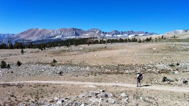 Barren scape between Forester Pass and Mt. Whitney