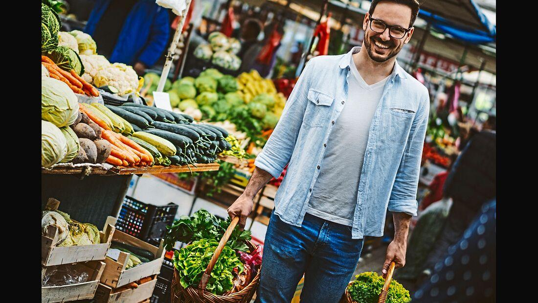 Bio-Lebensmittel vom Markt