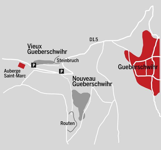 Bouldern im Elsass: Gueberschwihr