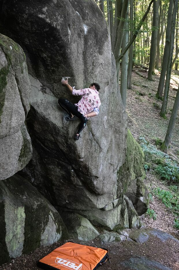 Bouldern im Odenwald Highball