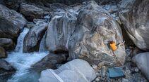 Bouldern in Brione, Tessin