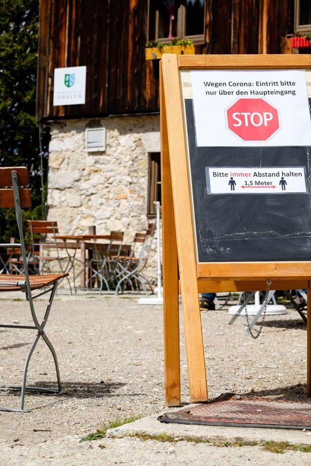 Corona-Regeln auf Berghütten