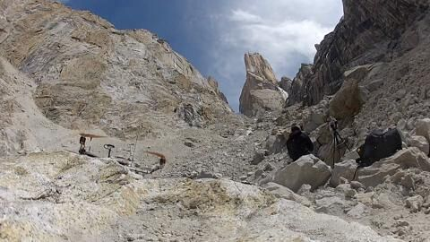 David Lama climbs Eternal Flame on Trango Tower