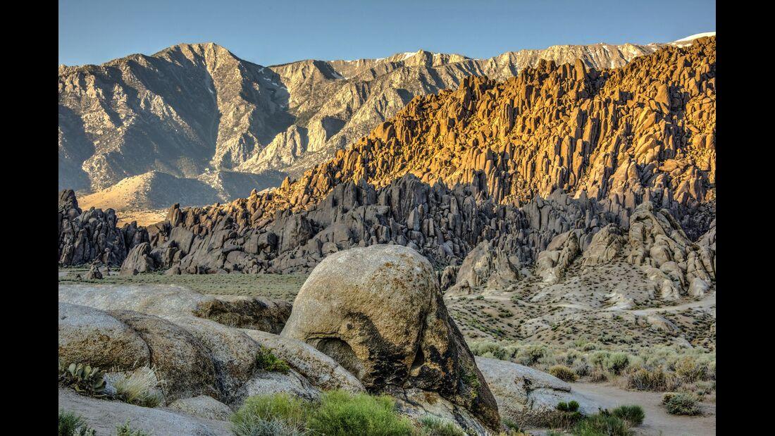 Eastern slope of Sierra Mountains