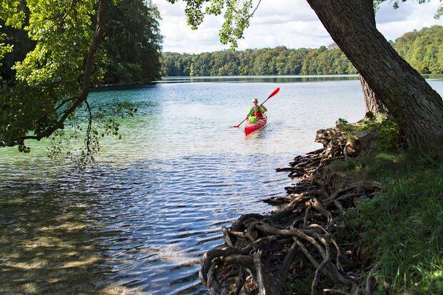 Feldberger Seen, Mecklenburg Vorpommern, Deutschland.