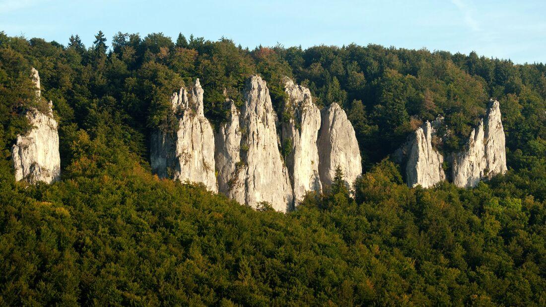 Felsen im Donautal droht Sperrung