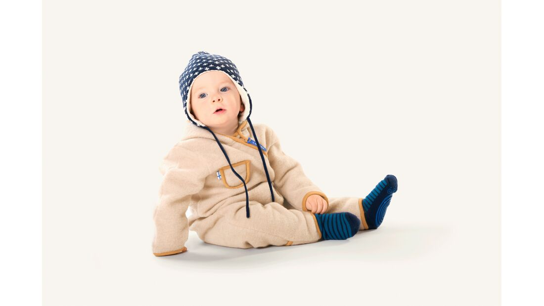 Finkid Puku Wool Baby-Overall Fleece