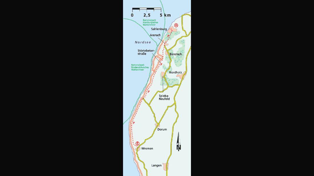 Friesland Tour 5 Karte