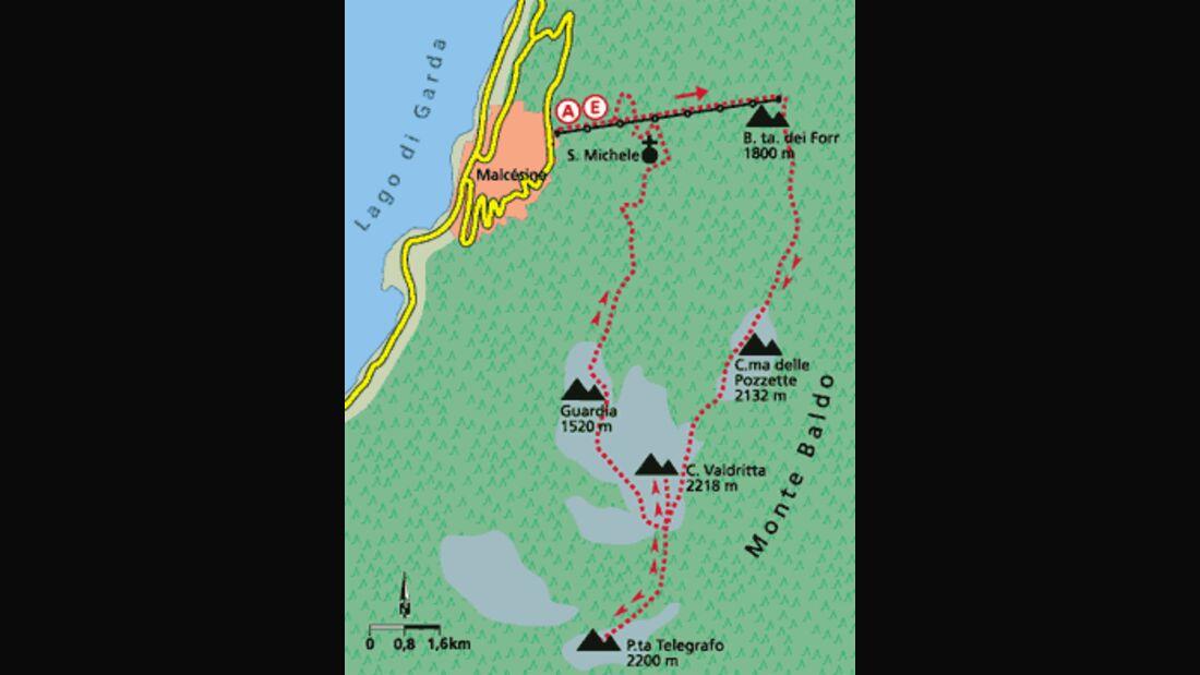 Gardasee Tour 1 Karte