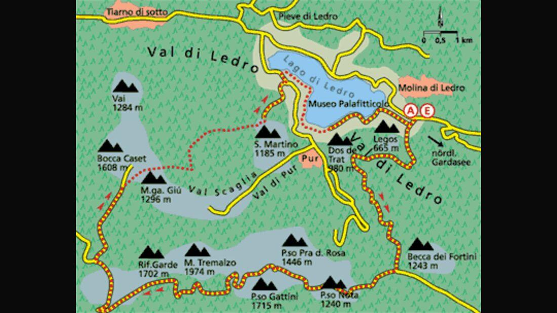 Gardasee Tour 3 Karte