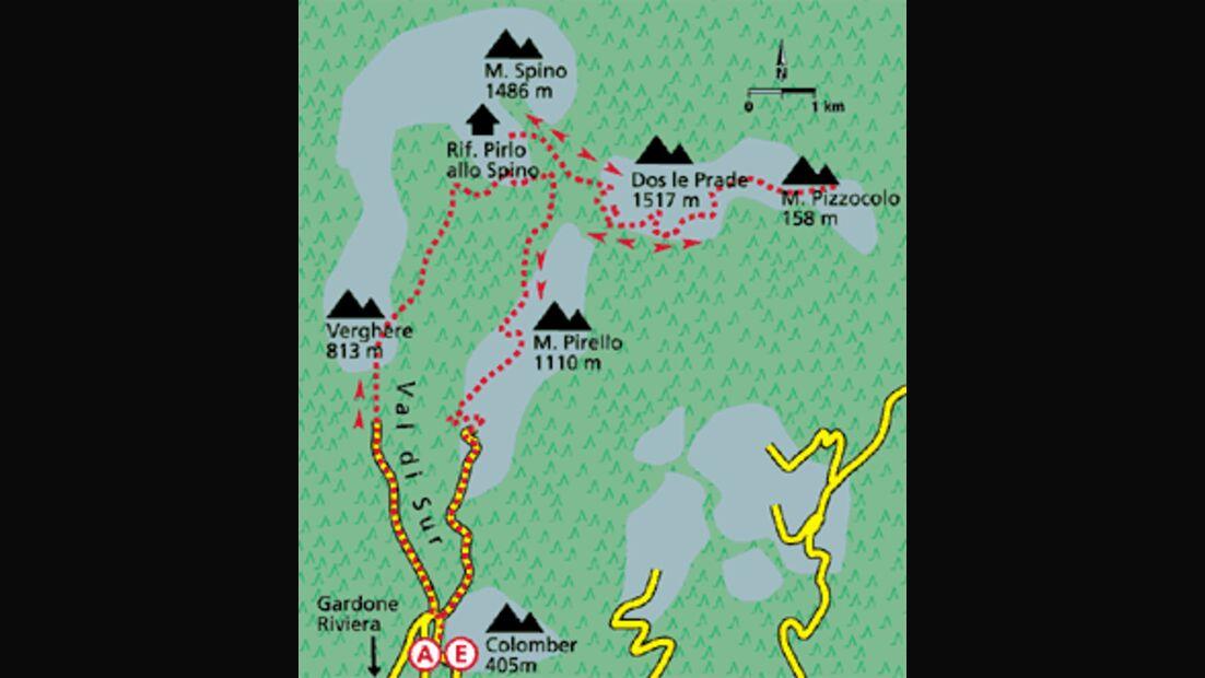 Gardasee Tour 5 Karte
