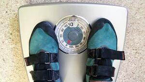 Gewicht und Klettern