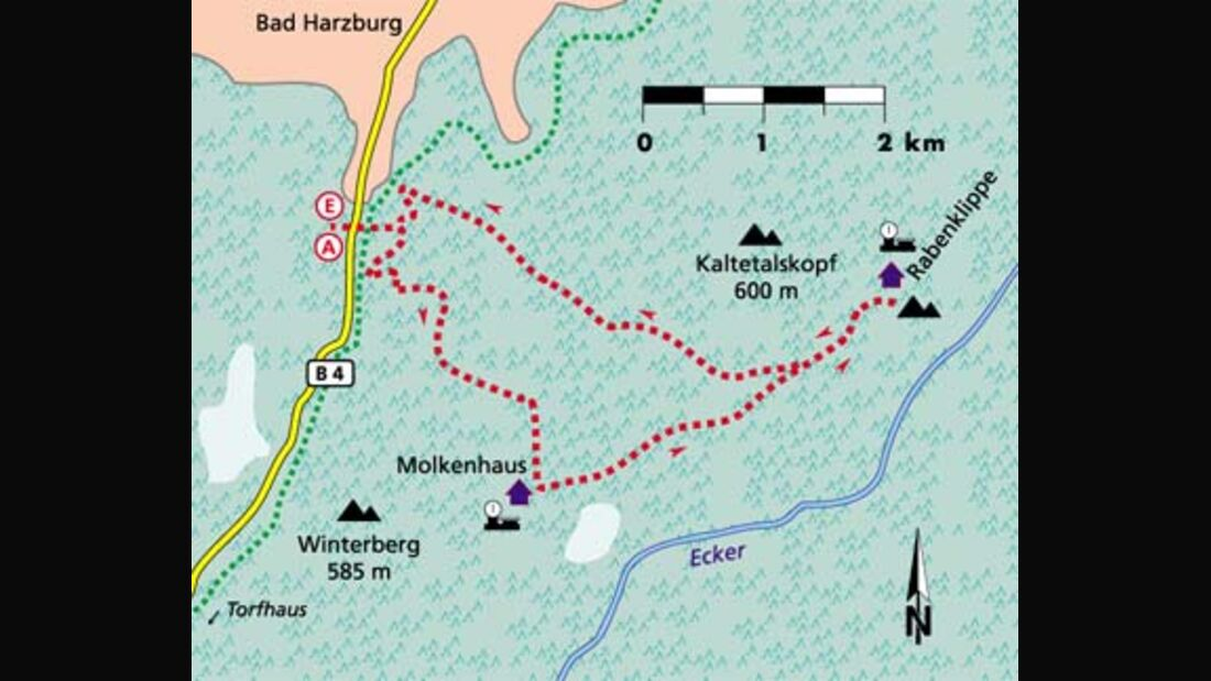 Harz Tour 1 Karte