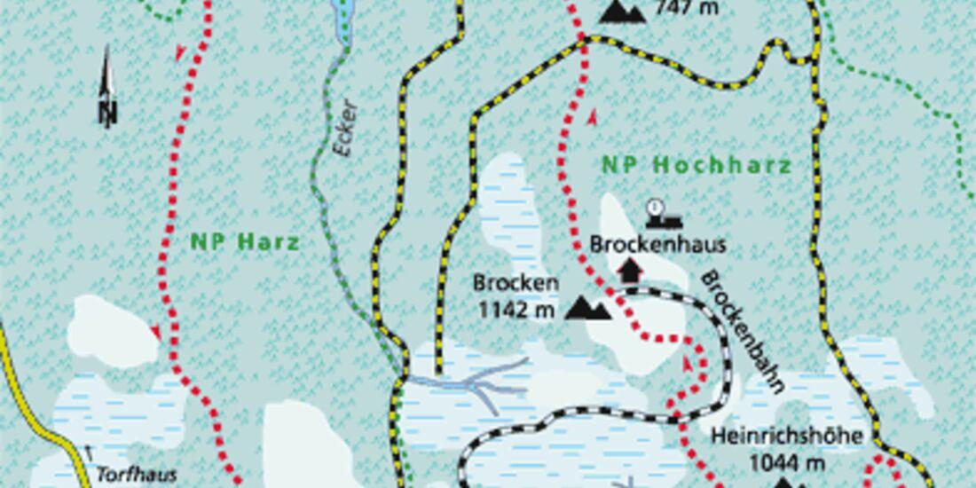 Harz Tour 2 Karte
