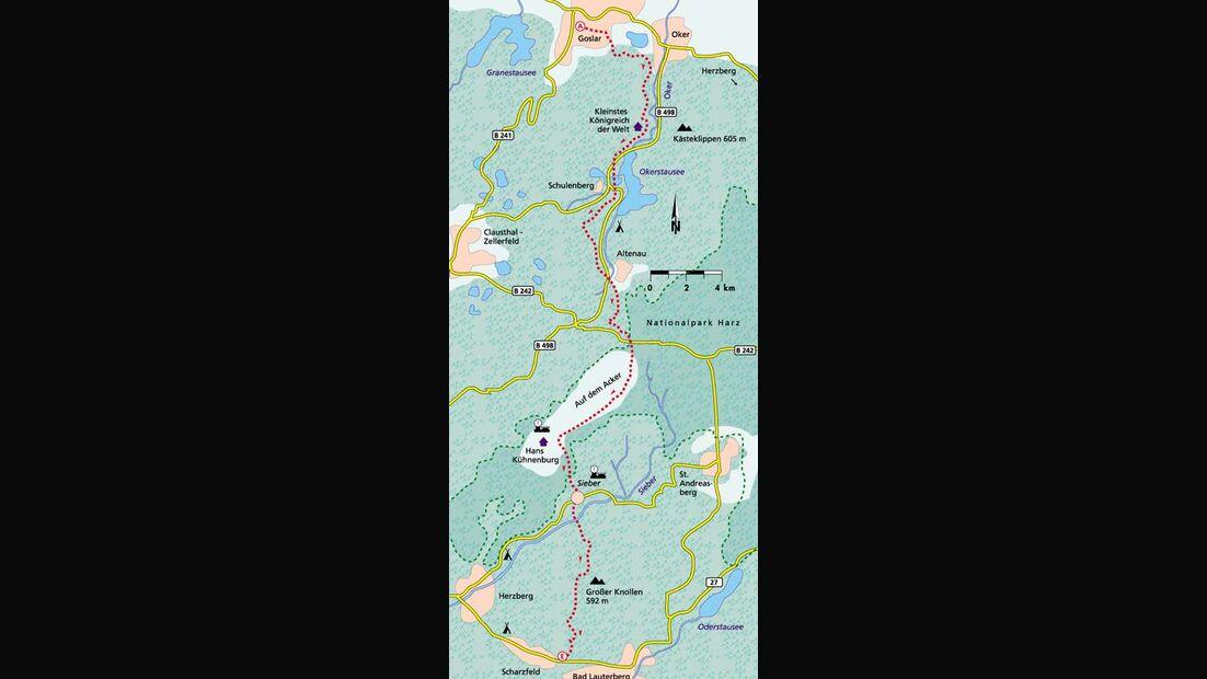 Harz Tour 4 Karte