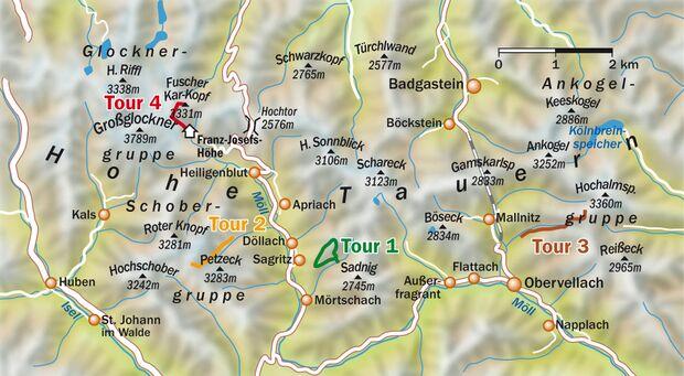 Hohe Tauern Karte