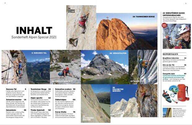 Inhalt Alpen-Special KLETTERN