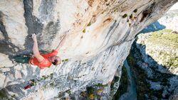 KL Cedric Lachat klettert Hosanna 8c im Verdon