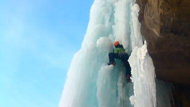 KL Frozen Love - ein Video über das Eisklettern in den Alpen von Matthias Scherer & Tanja Schmitt (Teaserbild)