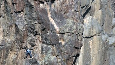 KL Hayden Kennedy klettert Hallucinogen Wall Black Canyon of the Gunnison