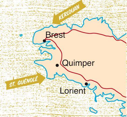 KL Karte Bretagne Bouldern Info