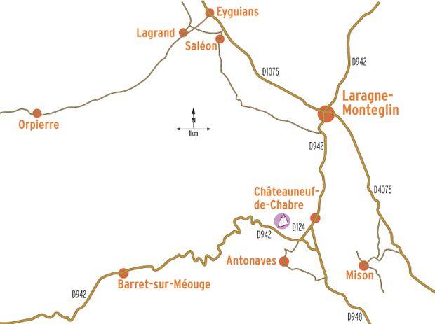 KL Lage Fels Chateauneuf de Chabre