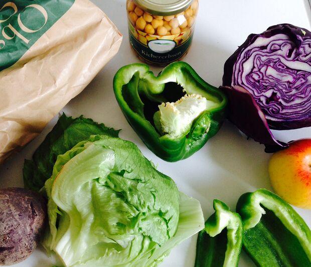 KL Lebensmittel Paprika Kichererbsen Essen fürs Klettern