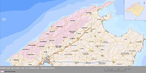 KL Mallorca Access Problems - Kletterer sollen zahlen Landkarte
