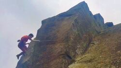 KL Michele Caminati Bodensturz Grounder Elder Statesman Curbar Grit Peak District