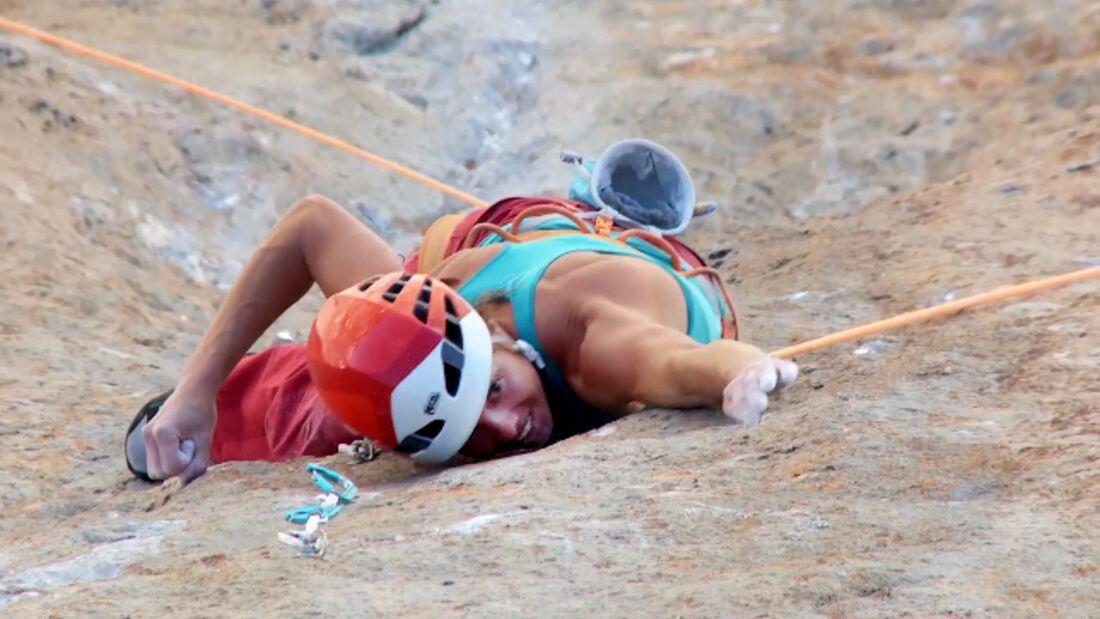 KL Nina Caprez in Orbayu 8c Picos de Europa Naranjo de Bulnes teaser