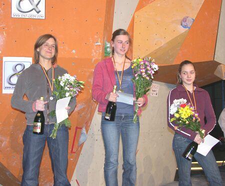 KL Siegerehrung Damen Bouldercup Pforzheim