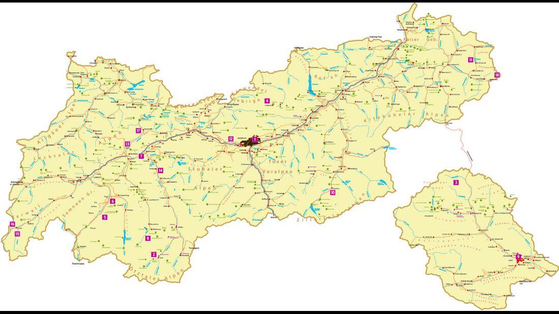 KL Tirol Special Highlight-Karte