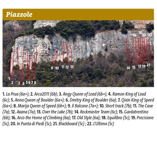 KL Topo Piazzole Klettern Gardasee