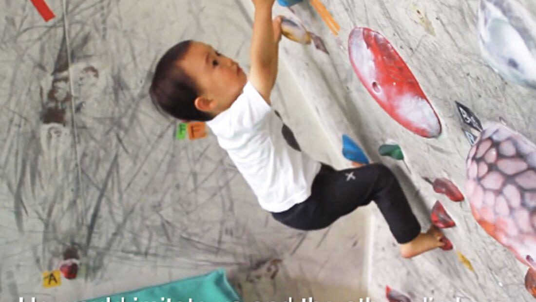 KL Zen Shimane (2 Jahre), jüngster Boulderer der Welt TEaser Japan