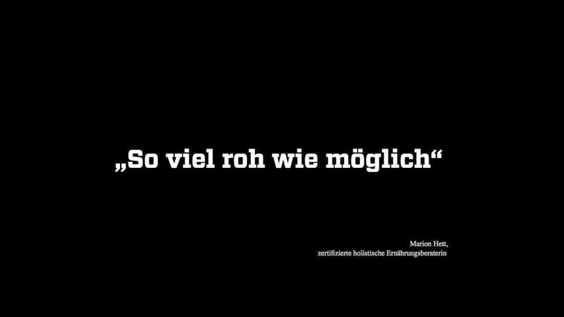 KL Zitat von Ernährungsberaterin Marion Hett
