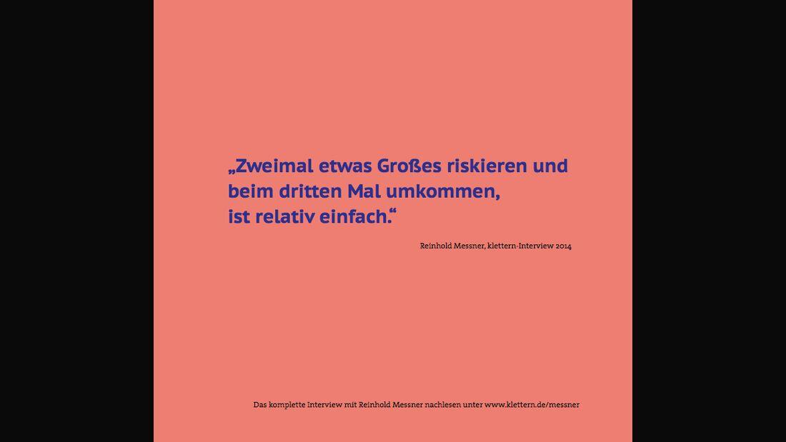 KL Zitat von Reinhold Messner Texttafel 1