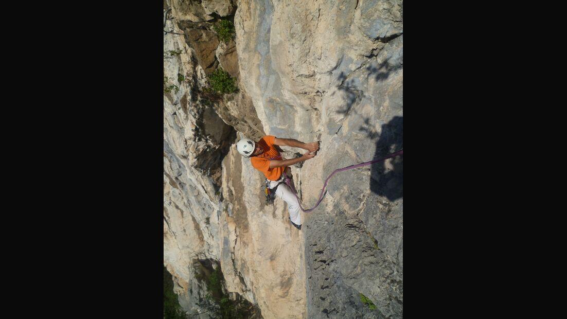 KL-alpines-Sportklettern-Sarcatal-Gardasee-c-Franz-Heiss-Via per Marco Simoni 2