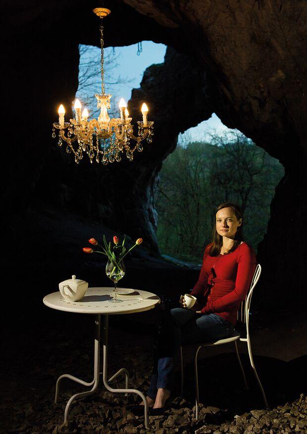 Kinga Ociepka-Grzegulska in der Mamutova Höhle