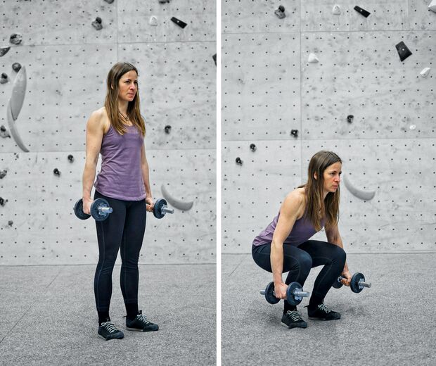 Kletter-Training mit Gewichten: Hanteltraining fürs Klettern
